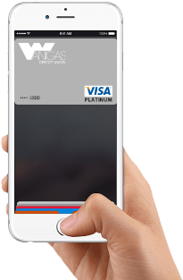 Use your Wanigas debit card with Apple Pay