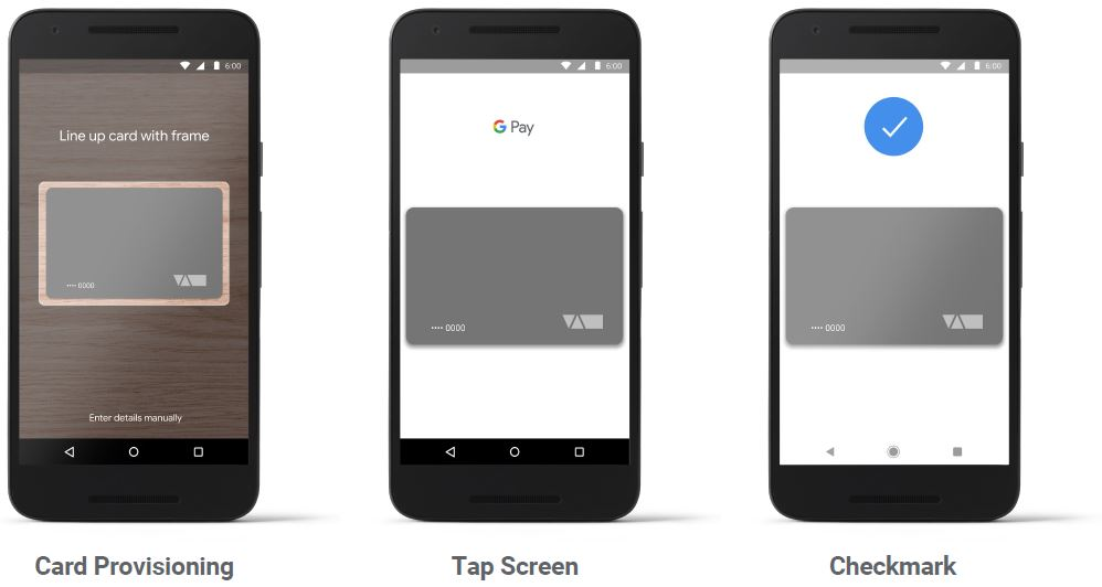 Google Pay UI Screen Views