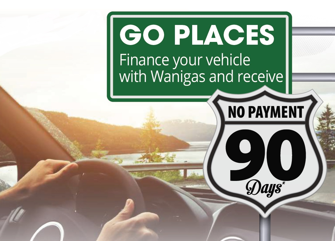90 Days No Payment Image, call Wanigas for details