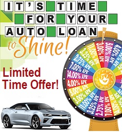 Auto Promotion Image, Rates as low as 2.75% APR through 14.00% APR. Restrictions
