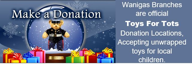 Make a donation to toys for tots