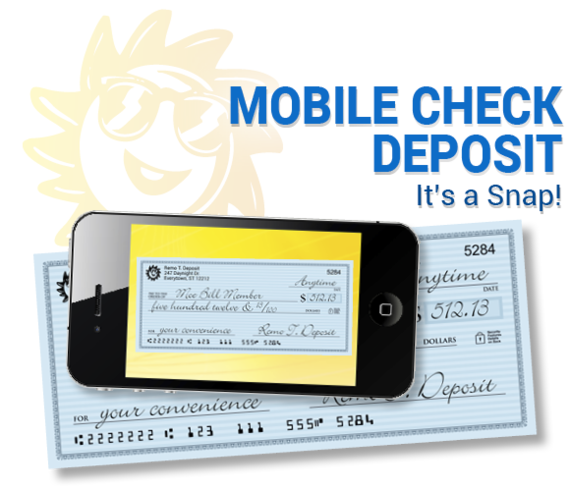 Mobile Check Deposit - it's a snap