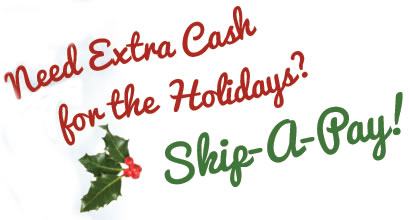 need extra holiday cash - skip a pay 2016