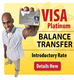 VISA Balance Transfer Introductory Rate, Call Wanigas for Details
