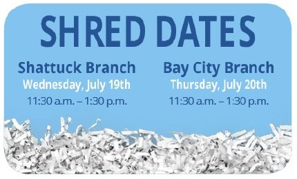Shred Dates july 2017