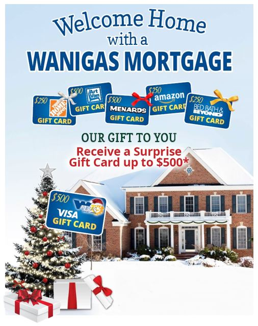 Mortgage Picture with 4th Quarter Offer on New Money Mortgages. Call Wanigas for Details